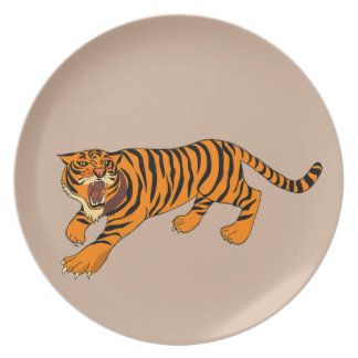 Tigers, Lions and Puns Plate