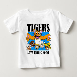 Tigers Love Ethnic Food Baby T-Shirt