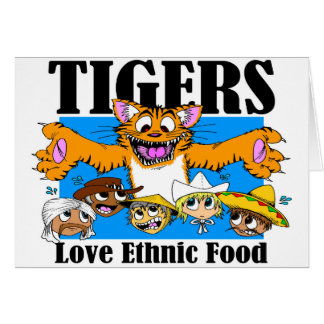Tigers Love Ethnic Food Card