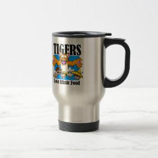 Tigers Love Ethnic Food Travel Mug