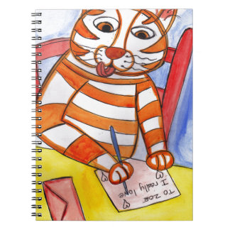 Tiger's Love Note Notebook