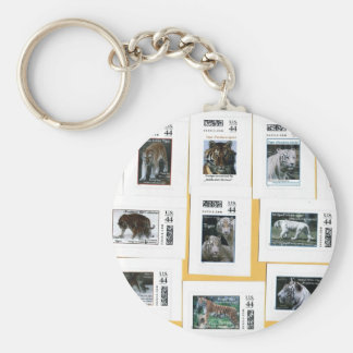 Tigers of all 4 colors key chains