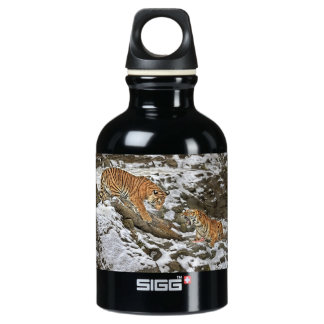 Tigers on Guard Aluminum Water Bottle