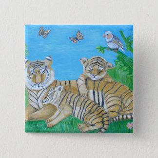 tigers pinback button