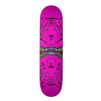 Tigers - Pink Skateboard