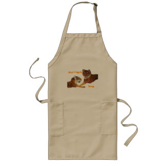 Tigers Purrfect Love Long Apron