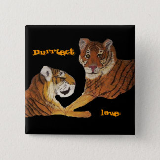 Tigers Purrfect Love Button