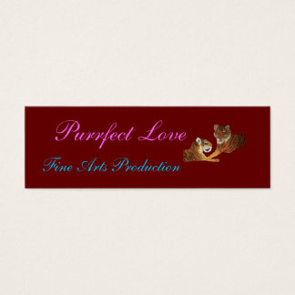 Tigers Purrfect Love Mini Business Card
