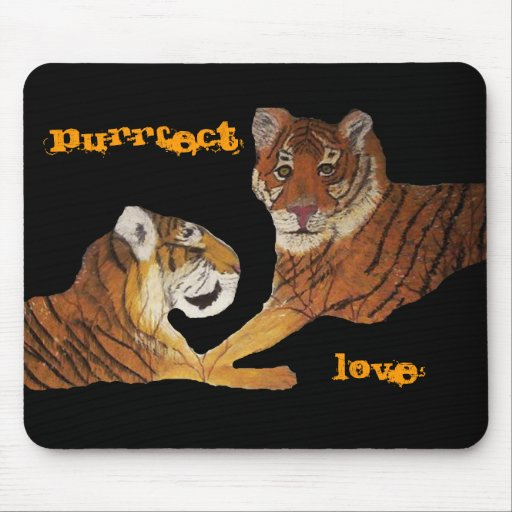 Tigers Purrfect Love Mouse Mat