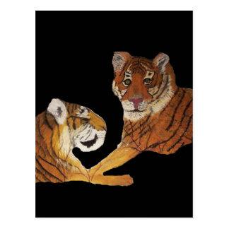 Tigers Purrfect Love Postcard