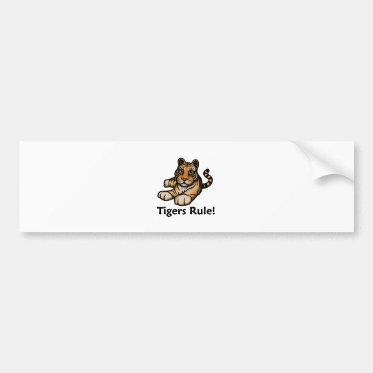 Tigers Rule! Bumper Sticker