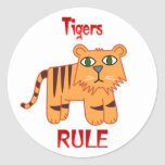 Tigers Rule Stickers