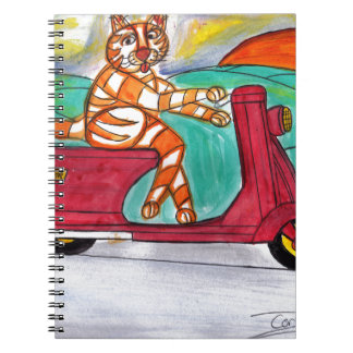 Tiger's Scooter Spiral Note Books