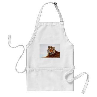 Tigers side glance adult apron