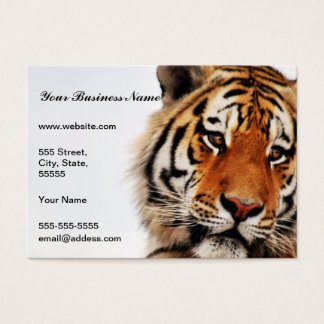Tigers side glance business card