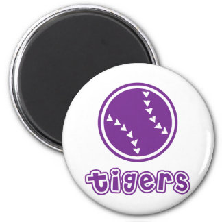 Tigers Softball 2 Inch Round Magnet
