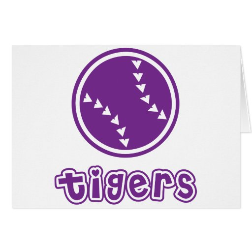 Tigers Softball Greeting Cards