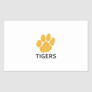 TIGERS RECTANGLE STICKER