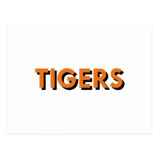 TIGERS TEXT POSTCARD