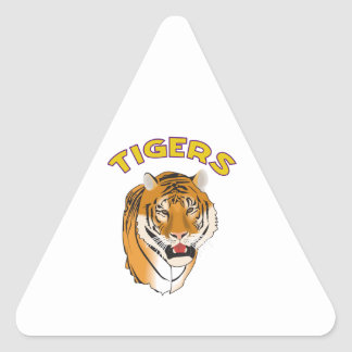 TIGERS TRIANGLE STICKER