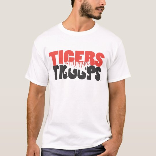 Tigers Troops Side Profile Red and Black T-Shirt