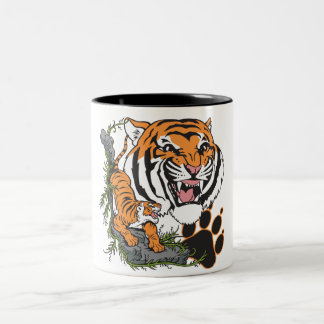 Tigers Two-Tone Coffee Mug