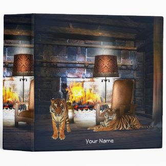 Tigers Winter Cottage Binder
