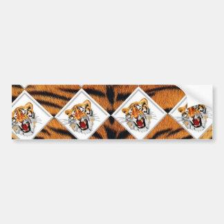 Tigers with Checker Board Background Bumper Sticker