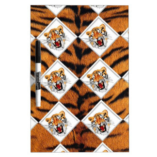 Tigers with Checker Board Background Dry-Erase Whiteboards