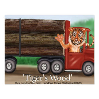 Tiger's Wood Hauling Co Funny Gifts & Collectibles Custom Invites