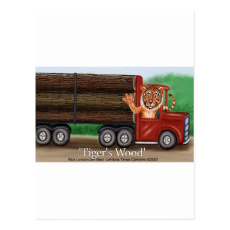 Tiger's Wood Hauling Co Funny Gifts & Collectibles Postcard