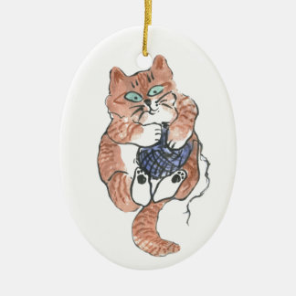 Tiger's Yarn Ceramic Ornament