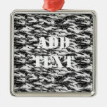 Tigerstripe Urban Camouflage - Black & Grey Christmas Tree Ornaments