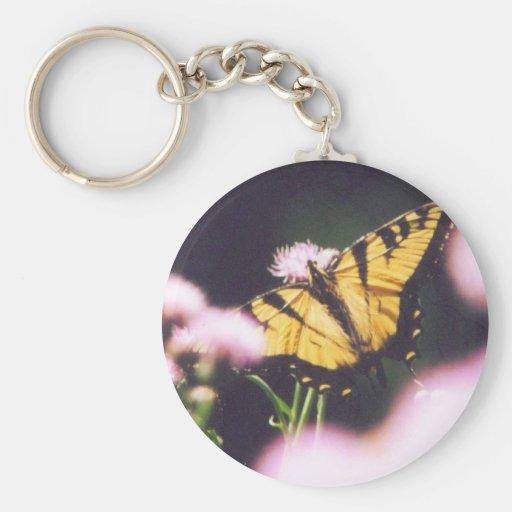 TigerSwallowtail Basic Round Button Keychain