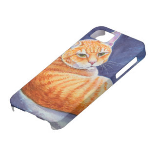 Tigg the Orange Tabby Cat iPhone SE/5/5s Case