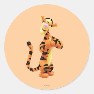 Tigger 1 classic round sticker