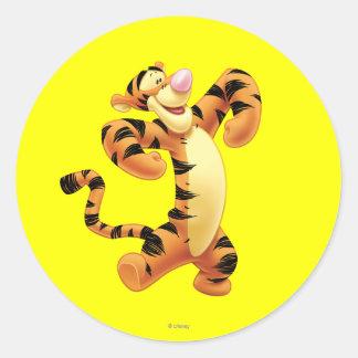 Tigger 2 classic round sticker