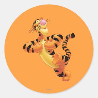 Tigger 6 pegatina redonda