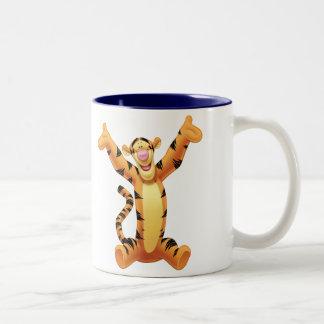 Tigger 8 taza de café de dos colores