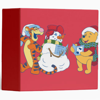 Tigger and Pooh Carolling 3 Ring Binder