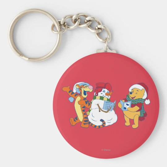 Tigger and Pooh Carolling Keychain