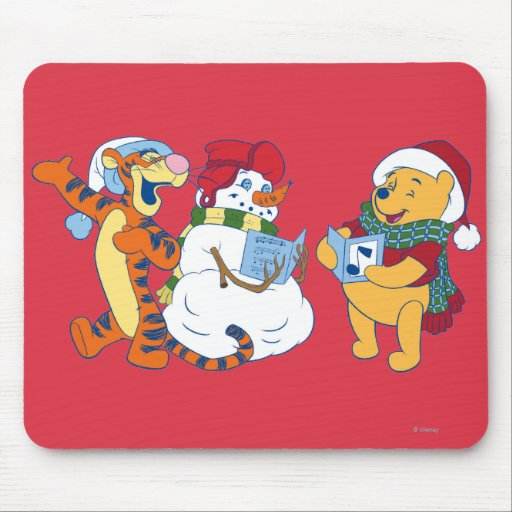 Tigger and Pooh Carolling Mouse Pads