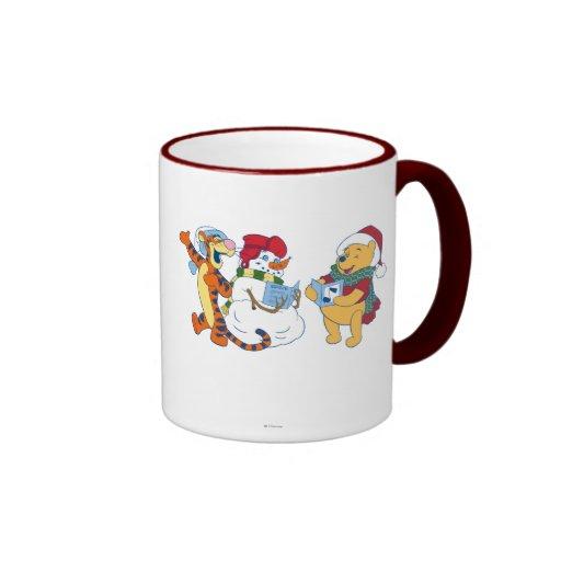 Tigger and Pooh Carolling Mugs