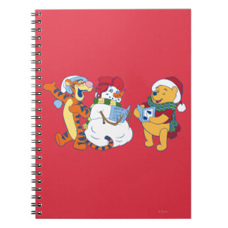 Tigger and Pooh Carolling Spiral Notebooks