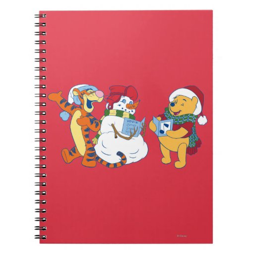 Tigger and Pooh Carolling Note Books