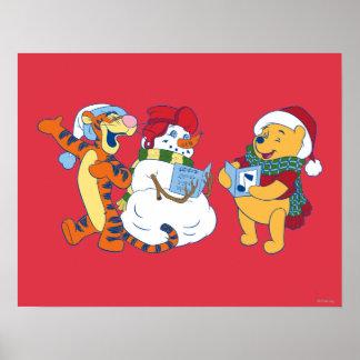 Tigger and Pooh Carolling Poster