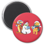 Tigger and Pooh Carolling Refrigerator Magnets