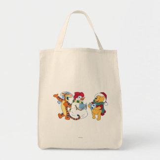 Tigger and Pooh Carolling Tote Bag