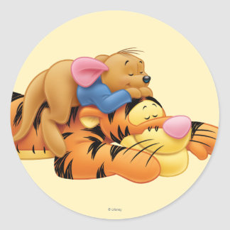 Tigger and Roo Round Stickers