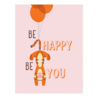 Tigger | Be Happy Be You Quote Postcard